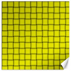 Yellow Weave Canvas 12  X 12  (unframed)