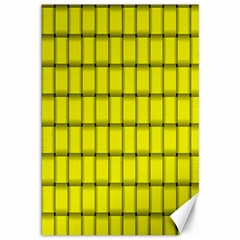 Yellow Weave Canvas 12  x 18  (Unframed)