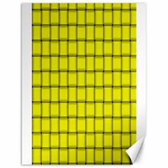 Yellow Weave Canvas 18  x 24  (Unframed)