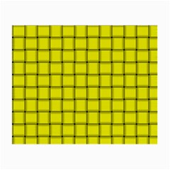 Yellow Weave Glasses Cloth (small, Two Sided)