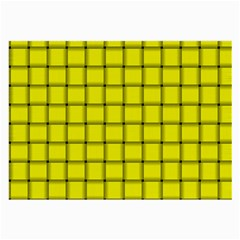 Yellow Weave Glasses Cloth (large, Two Sided)