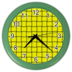 Yellow Weave Wall Clock (color)