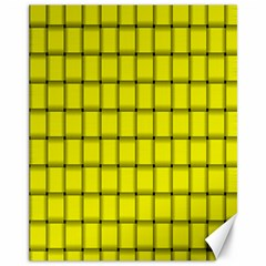 Yellow Weave Canvas 11  x 14  9 (Unframed)