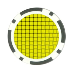Yellow Weave Poker Chip