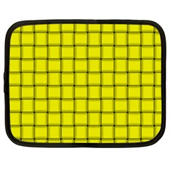 Yellow Weave Netbook Case (Large)