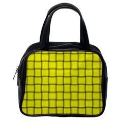 Yellow Weave Classic Handbag (One Side)