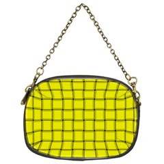 Yellow Weave Chain Purse (One Side)