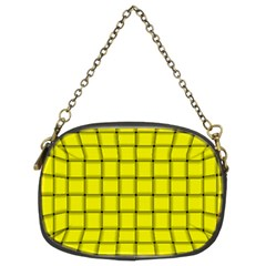 Yellow Weave Chain Purse (Two Side)