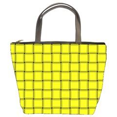 Yellow Weave Bucket Bag