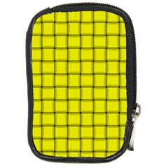Yellow Weave Compact Camera Leather Case