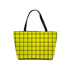 Yellow Weave Large Shoulder Bag