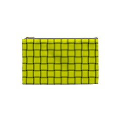 Yellow Weave Cosmetic Bag (small)