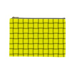 Yellow Weave Cosmetic Bag (Large)