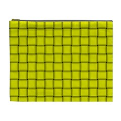 Yellow Weave Cosmetic Bag (xl)
