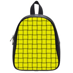 Yellow Weave School Bag (Small)