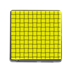 Yellow Weave Memory Card Reader With Storage (square)