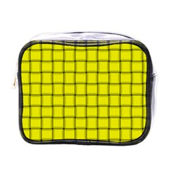 Yellow Weave Mini Travel Toiletry Bag (One Side)