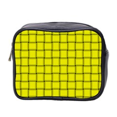 Yellow Weave Mini Travel Toiletry Bag (Two Sides)