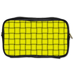 Yellow Weave Travel Toiletry Bag (Two Sides)