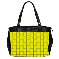 Yellow Weave Oversize Office Handbag (two Sides)