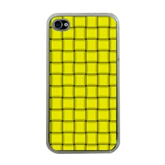 Yellow Weave Apple iPhone 4 Case (Clear)