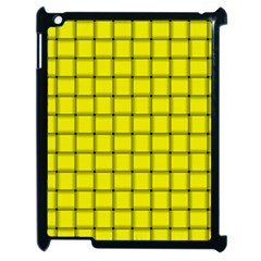 Yellow Weave Apple iPad 2 Case (Black)
