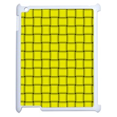 Yellow Weave Apple iPad 2 Case (White)