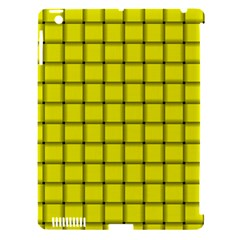 Yellow Weave Apple Ipad 3/4 Hardshell Case (compatible With Smart Cover)