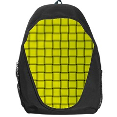 Yellow Weave Backpack Bag