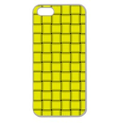 Yellow Weave Apple Seamless iPhone 5 Case (Clear)