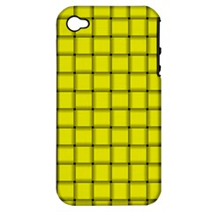 Yellow Weave Apple iPhone 4/4S Hardshell Case (PC+Silicone)