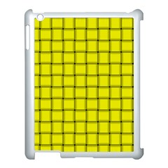 Yellow Weave Apple iPad 3/4 Case (White)