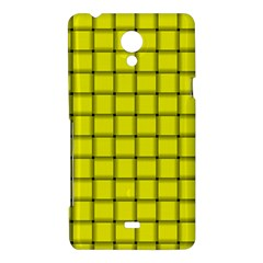 Yellow Weave Sony Xperia T Hardshell Case