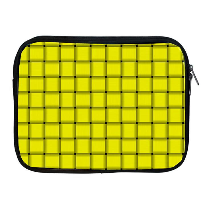 Yellow Weave Apple iPad 2/3/4 Zipper Case