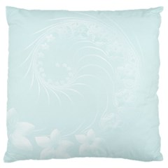 Pastel Blue Abstract Flowers Large Cushion Case (Two Sides)