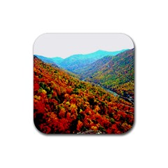 Through The Mountains Drink Coaster (square)