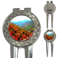 Through The Mountains Golf Pitchfork & Ball Marker