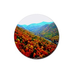 Through The Mountains Drink Coaster (Round)