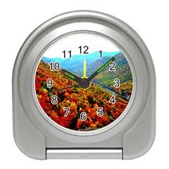 Through The Mountains Desk Alarm Clock