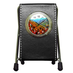 Through The Mountains Stationery Holder Clock