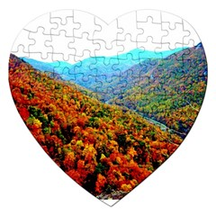 Through The Mountains Jigsaw Puzzle (Heart)