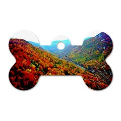 Through The Mountains Dog Tag Bone (one Sided)