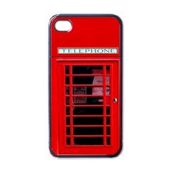 Phone Booth / Phone box Apple iPhone 4 Case (Black)
