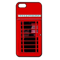 Phone Booth Apple iPhone 5 Seamless Case (Black)
