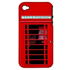 Phone Booth Apple iPhone 4/4S Hardshell Case (PC+Silicone)