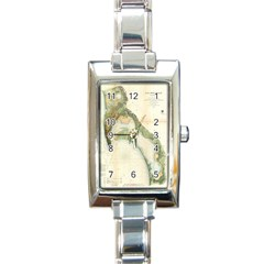 Vintage Map of The San Diego Bay (1857) Rectangular Italian Charm Watch