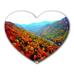 Through The Mountains Mouse Pad (Heart)