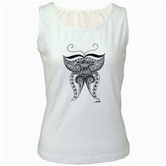 Butterfly Womens  Tank Top (White)