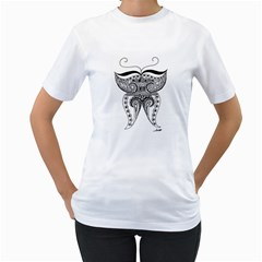 Butterfly Womens  T-shirt (White)