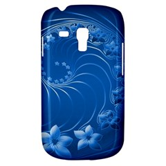 Blue Abstract Flowers Samsung Galaxy S3 MINI I8190 Hardshell Case